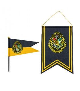 Bandiera e striscione di Hogwarts in Harry Potter