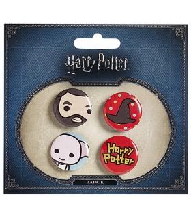 Set di 4 scudetti, Hagrid, Cappello, Dobby, Harry Potter