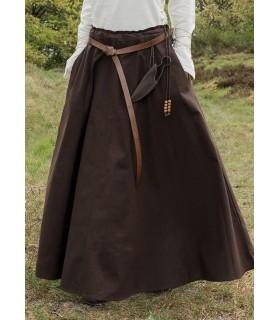 Gonna medievale lungo marrone scuro