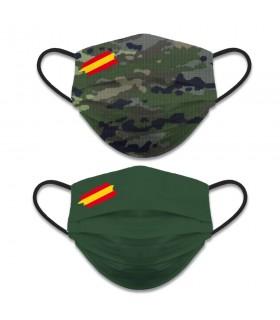 Accessorio per il viso reversibile Livello 3, Camouflage Camo