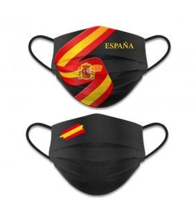 Accessorio per il viso reversibile Livello 3, la Bandiera spagnola