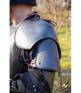 Spalline Guerriero medievale, finitura nera