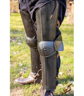 Protezione gambe di un Soldato, finitura nera