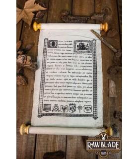 Pergamena medievale di chiusura in pelle