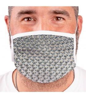 Maschera Medievale cotta di maglia Riutilizzabili (per adulti)