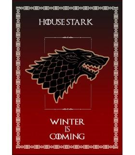Banner Gioco di Troni della Casa Stark (50x70 cm.)