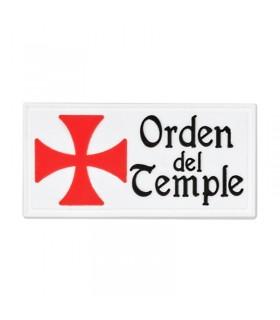 Patch Ordine del Tempio con velcro (6x3 transiti cm)