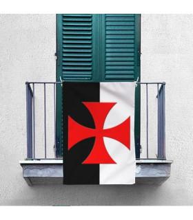 Standard di due-tono Templare Croce Patente (70x100 cm.)