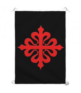 Banner Croce, Ordine di Calatrava (70x100 cm.)