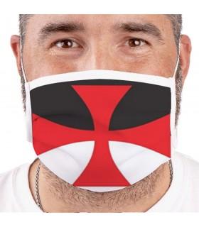 Maschera Croce Templare Riutilizzabili e Approvato (per adulti)
