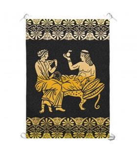 Banner Riposo e al tempo Libero nella Grecia Classica (70x100 cm.)