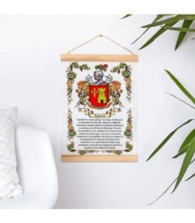 Banner con struttura in legno Personalizzata con il tuo nome di famiglia (30x45 cm)