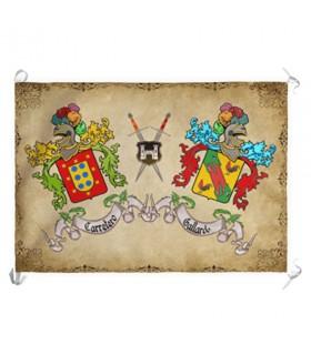Banner Medievale 2 Cognome Personalizzato (70x100 cm.)
