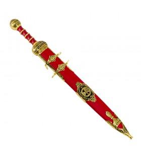 Spatha cavalleria romana con guaina rossa
