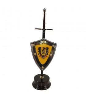Set Jeireddín Barbarossa, letter opener con scudo e stand