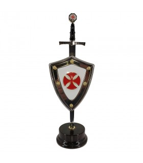 Set di Croce, letter opener con scudo e stand