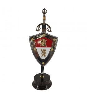 Impostare Il Cid letter opener con scudo e stand