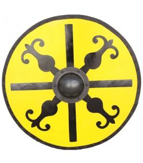 Scudo Medievale Giro Verricello in acciaio e legno