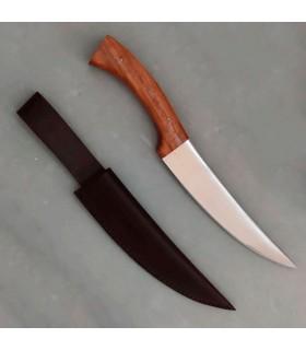 Coltello medievale di caccia con il caso di cuoio