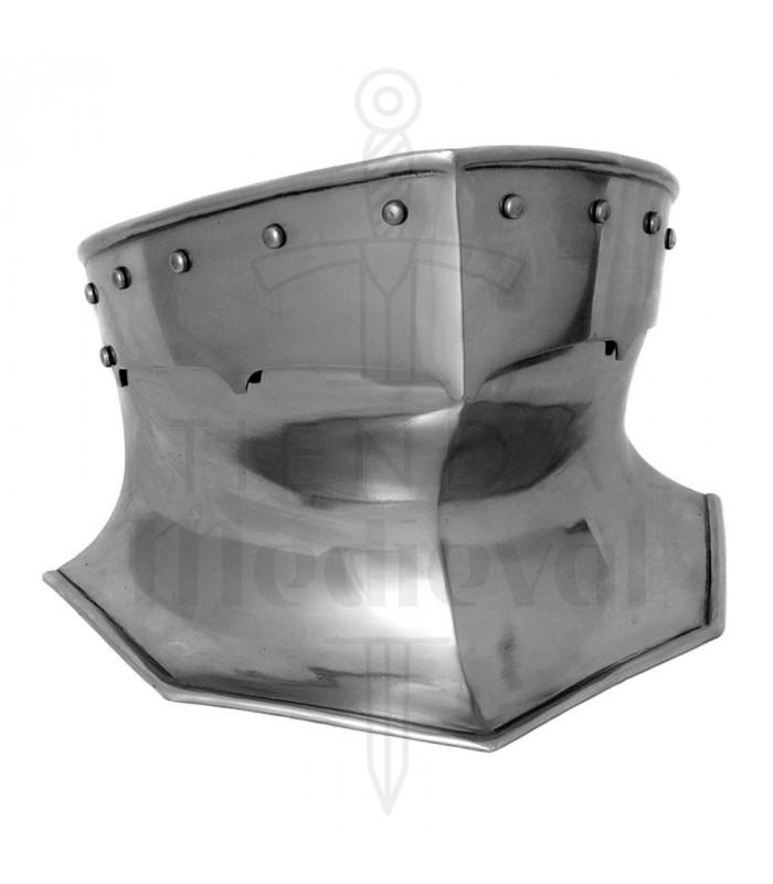Paracollo per armatura medievale in acciaio, 1,6 mm.