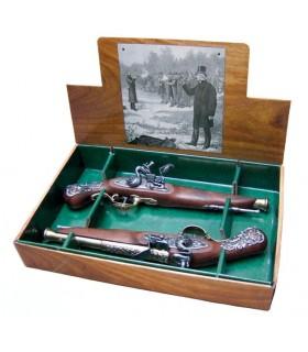 2 set inglese pistole da duello, XVIII secolo