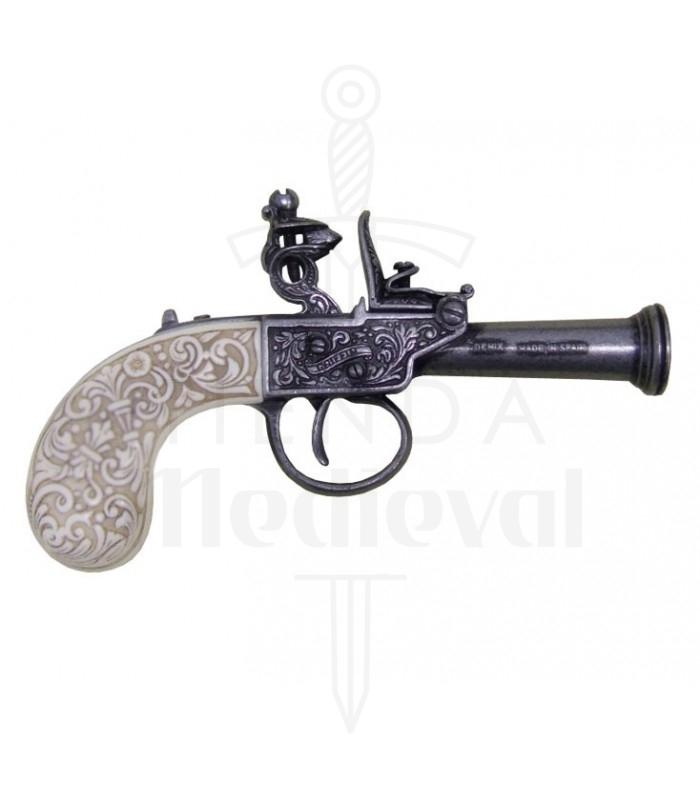 Inglese a pietra focaia pistola, anno 1798. Pistole a pietra focaia