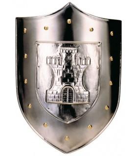 incisa scudo con il castello borchie dorate