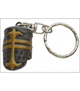 Chiave del casco templare medievale