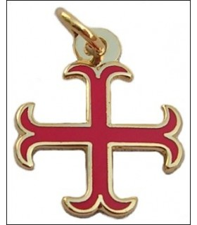 Templar croce pendente ancorato