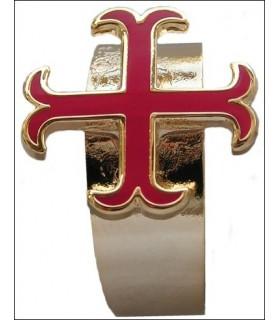 Anello croce templare ancorato