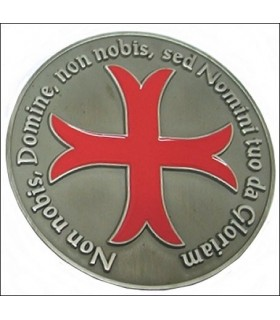 Fermacarte croce Templare, finitura argento