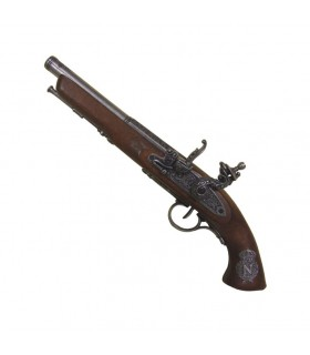 Pistola a pietra focaia, la Francia del XIX secolo. (Mancino)