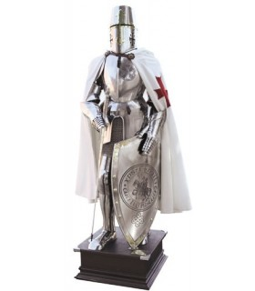 Armatura dei Cavalieri Templari di attraversare sul petto