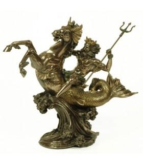 Figura dio greco del mare Poseidone 30 cm.