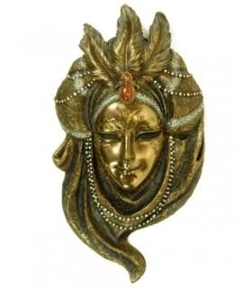 collana di perle maschera veneziana
