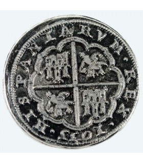 Moneta 8 reales d'argento, 3.5 cm.