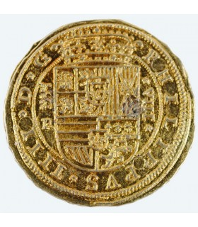 100 scudi moneta d'oro, 4 cm.
