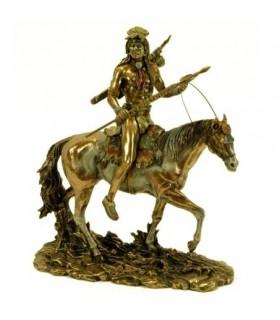 Indiano Sioux figura a cavallo