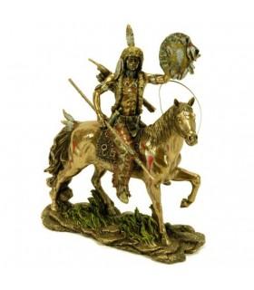 Cheyenne indiano figura a cavallo