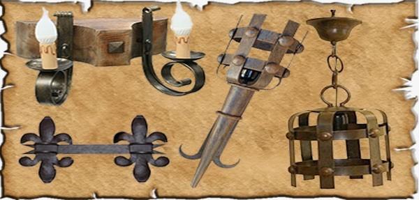 Ferro battuto medievale fabbricato in Spagna
